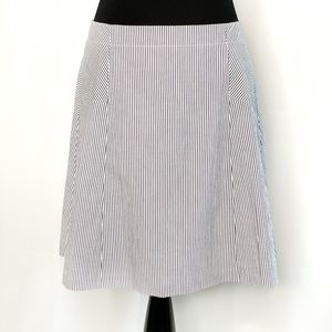 Ann Taylor LOFT Striped Fit And Flare Skirt